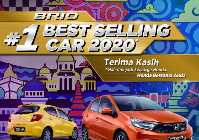 Honda Brio Catat Prestasi Sebagai Model dengan Penjualan Tertinggi di Indonesia Pada Tahun 2020