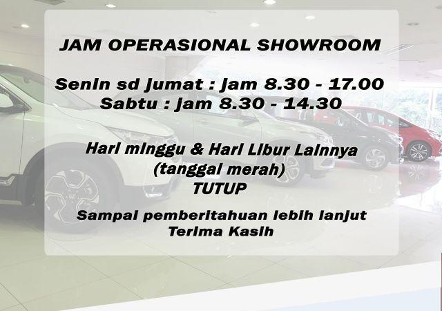 Jam Operasional Showroom 2020